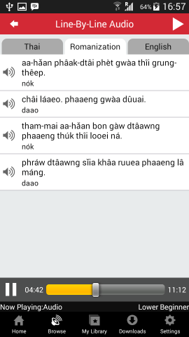 learning thai line-by-line