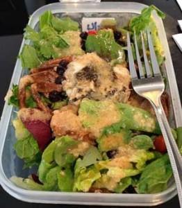 Soft Shell Crab Avocado Salad