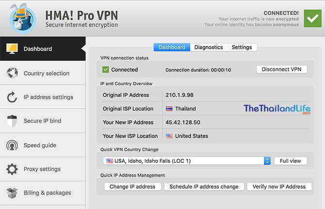 hidemyass vpn dashboard