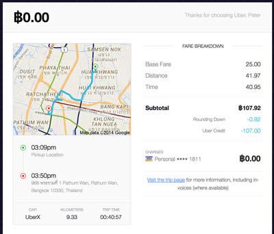 UberX Bangkok Review