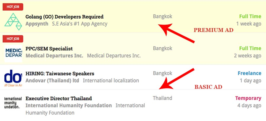 thailand jobs board