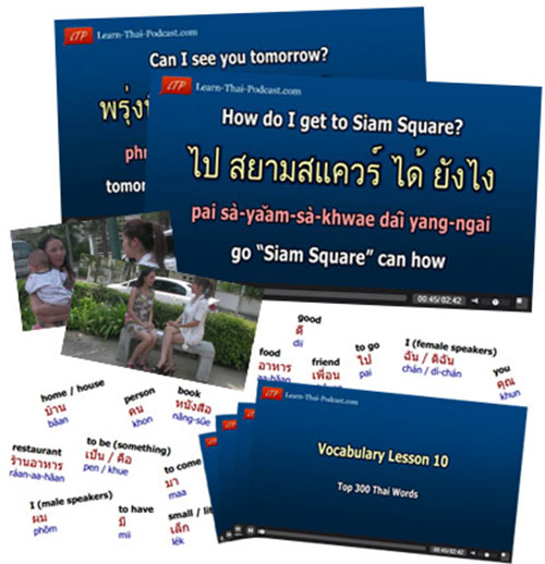 learn thai podcast shopping conversation