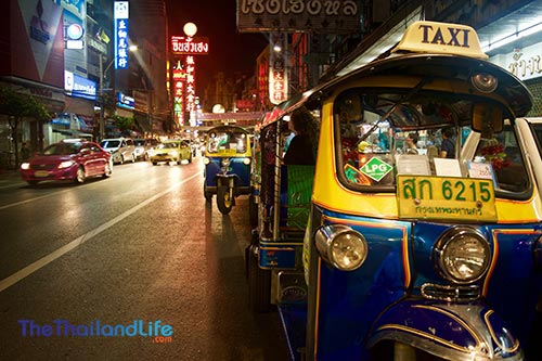 thailand china town tuk tuk