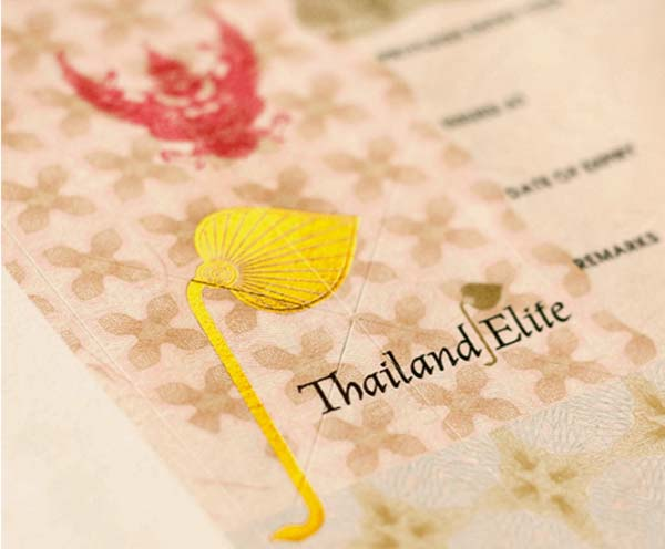 thailand elite visa stamp