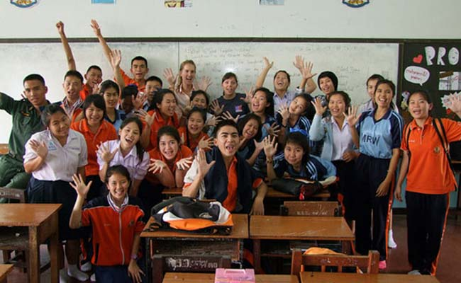 class of Thai students