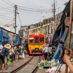 Visiting The Maeklong Railway (Life-Risking) Train Market